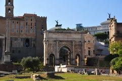 Forum Romanum in Rome Stock Photo