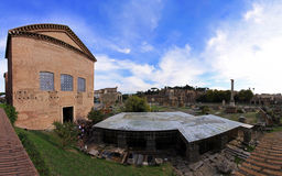 Forum romanum ruins Stock Photo