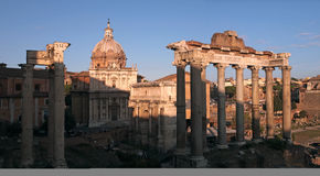 The Forum Romanum ruins in Rome Royalty Free Stock Image