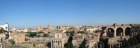 Forum romanum ruins in Rome Royalty Free Stock Images