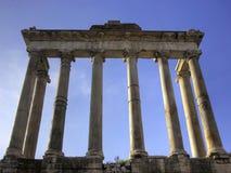 forum romanum Saturn świątynia Zdjęcie Royalty Free