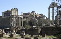 Forum Romanum at summer time Royalty Free Stock Photos