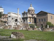 Forum Romanum at summer time Royalty Free Stock Images