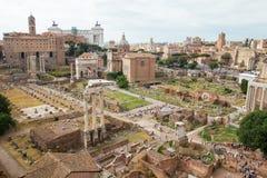Forum Romanum. A view over the Roman Forum (Forum Romanum) in Rome, Italy Stock Photography