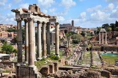 Forum Romanum, Włochy zdjęcia stock