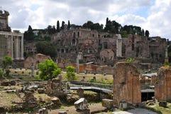 Roman Forum. Forum Romanum, West view towards Palatine Hill Stock Photos