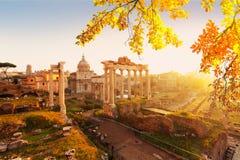Forum - romaren fördärvar i Rome, Italien royaltyfri fotografi