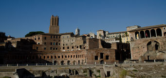 Forum in Rome, Italy. Site of the Forum Romanum Stock Photography
