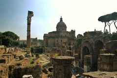 Forum in Rome, Italy Royalty Free Stock Images