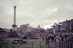 The Forum in Rome Stock Photography