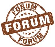 Forum stamp. Forum round grunge stamp isolated on white background Royalty Free Stock Photo