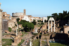 Forum ruins Royalty Free Stock Images