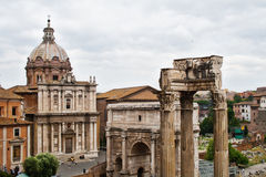 The Forum ruins in Rome, Italy. Ancient ruins at the Forum in Rome, Italy Royalty Free Stock Photo