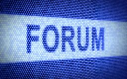 Forum screen Royalty Free Stock Photos