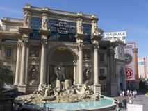 The Forum Shops at Caesars, Las Vegas, USA. The Forum Shops at Caesars is a major 636,000-square-foot 59,100 m2 shopping mall connected to Caesars Palace on the Stock Images