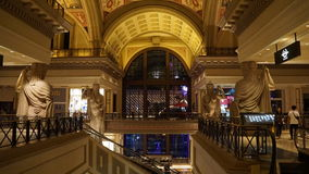 Forum Shops in Las Vegas. In Las Vegas, Nevada. The venue includes more than 160 shops and haute couture boutiques, as well as 11 gourmet restaurants Stock Images