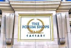 The Forum Shops sign. At Caesars Palace in Las Vegas Stock Images