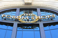 The Forum Shops sign. At Caesars Palace in Las Vegas Royalty Free Stock Image