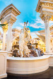 The Forum Shops statue of a goddess holding an apple Royalty Free Stock Image