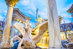 The Forum Shops statue of Pegasus Stock Photos