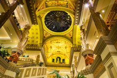 The Forum Shops, view of skylight and ceiling at Caesars Palace Stock Image