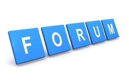 Forum sign. Illustration of blocks forming word forum Stock Photo