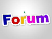 Forum Sign Means Group Website And Chat Royalty Free Stock Photography