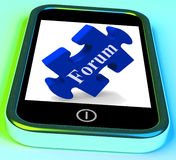 Forum Smartphone Shows Website Networking And Discussion Royalty Free Stock Photo