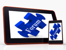 Forum Smartphone Shows Website Networking And Discussion. Forum Smartphone Showing Website Networking And Discussion Royalty Free Stock Photo