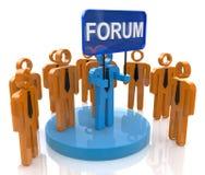 Forum społeczność ilustracja wektor