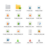 Forum status icons vector Royalty Free Stock Photos