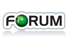 Forum sticker. Conceptual  illustration of modern forum sticker Royalty Free Stock Images