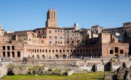Forum of Trajan. Markets of Trajan in Rome, Italy Stock Photo