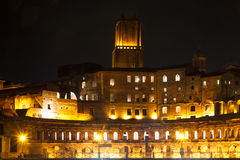 Forum of Trajan at night Royalty Free Stock Image