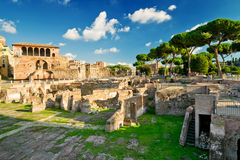 The forum of Trajan in Rome Royalty Free Stock Images