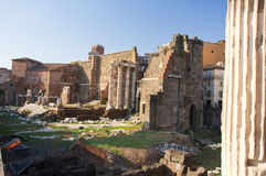 The forum of Trajan in Rome, Italy. Royalty Free Stock Photos