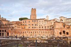 The forum of Trajan in Rome Stock Photos