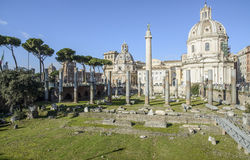 The forum of trajan rome Italy europe Stock Images