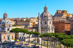Forum of Trajan in Rome Stock Photo