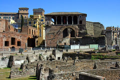 The forum of Trajan Rome. The Roman forum of Trajan archaeology Italy antique Stock Photography