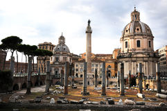 The Forum of Trajan in Rome Stock Photo