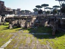 Forum of Trajan. Ruins of Forum of Trajan in Rome, Italy Stock Images