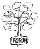 Forum tree conceptual Stock Photography
