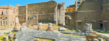 Forum van Augustus in Rome, Italië Stock Foto's