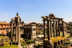 Forum van Caesar in Rome, Italië Architectuur en oriëntatiepunt van Rome Antiek Rome - Roman Forum royalty-vrije stock afbeeldingen