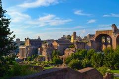 forum Włoch romana Rzymu Forum Romanum lub forum magnum zdjęcie royalty free
