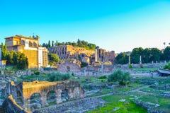 forum Włoch romana Rzymu Forum Romanum lub forum magnum Zdjęcie Stock