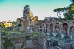 forum Włoch romana Rzymu Forum Romanum lub forum magnum Fotografia Royalty Free
