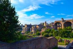 forum Włoch romana Rzymu Forum Romanum lub forum magnum Obrazy Stock