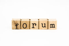 Forum wording, education and business concept Royalty Free Stock Image